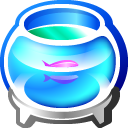Aquarium Clock 3D Screensaver icon