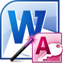 MS Word Import Multiple Access Files Software icon