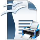 OpenOffice Writer Print Multiple Documents Software icon