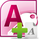 MS Access Add Data, Text & Characters Software icon