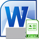 MS Word Copy and Paste Multiple Tables Into Excel Software icon