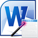 MS Word Import Multiple Text Files Software icon