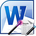 MS Word Resume Template Software icon