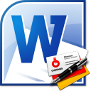 MS Word Business Card Template Software icon