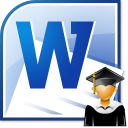 MS Word High School Resume Template Software icon