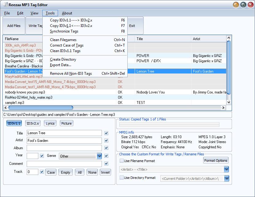 Reezaa MP3 Tag Editor latest version - Get best Windows software