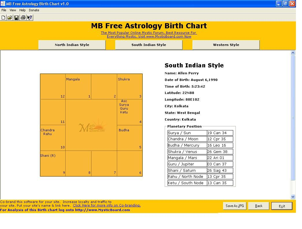 MB Free Astrology Birth Chart latest version   Get best Windows ...