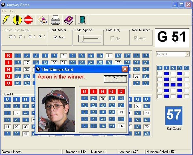 Aarons Bingo Game download for free - SoftDeluxe