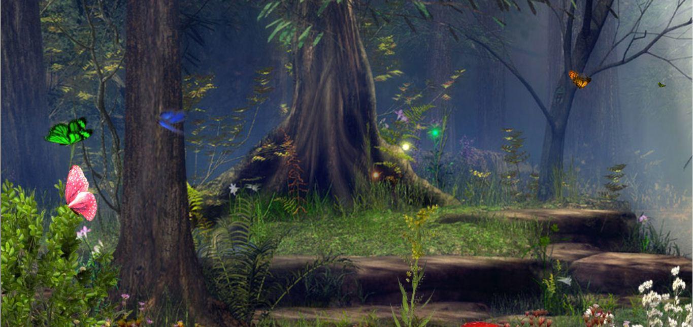 Открытки днем, детские картинки анимашки сказочный лес
