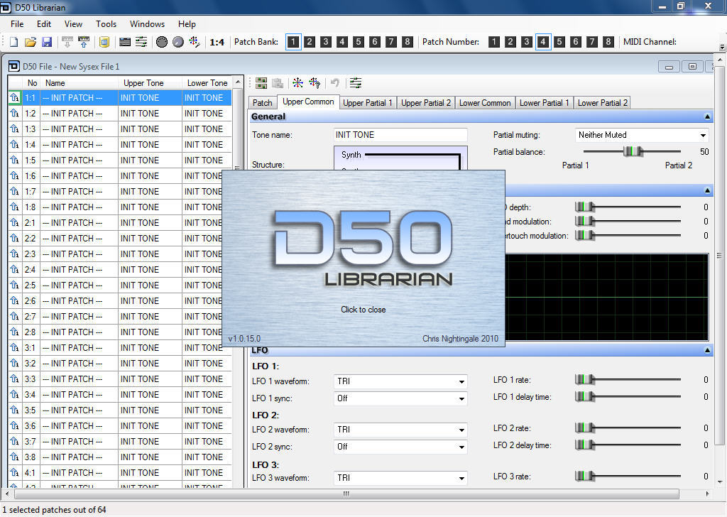 D50 Librarian download for free - SoftDeluxe