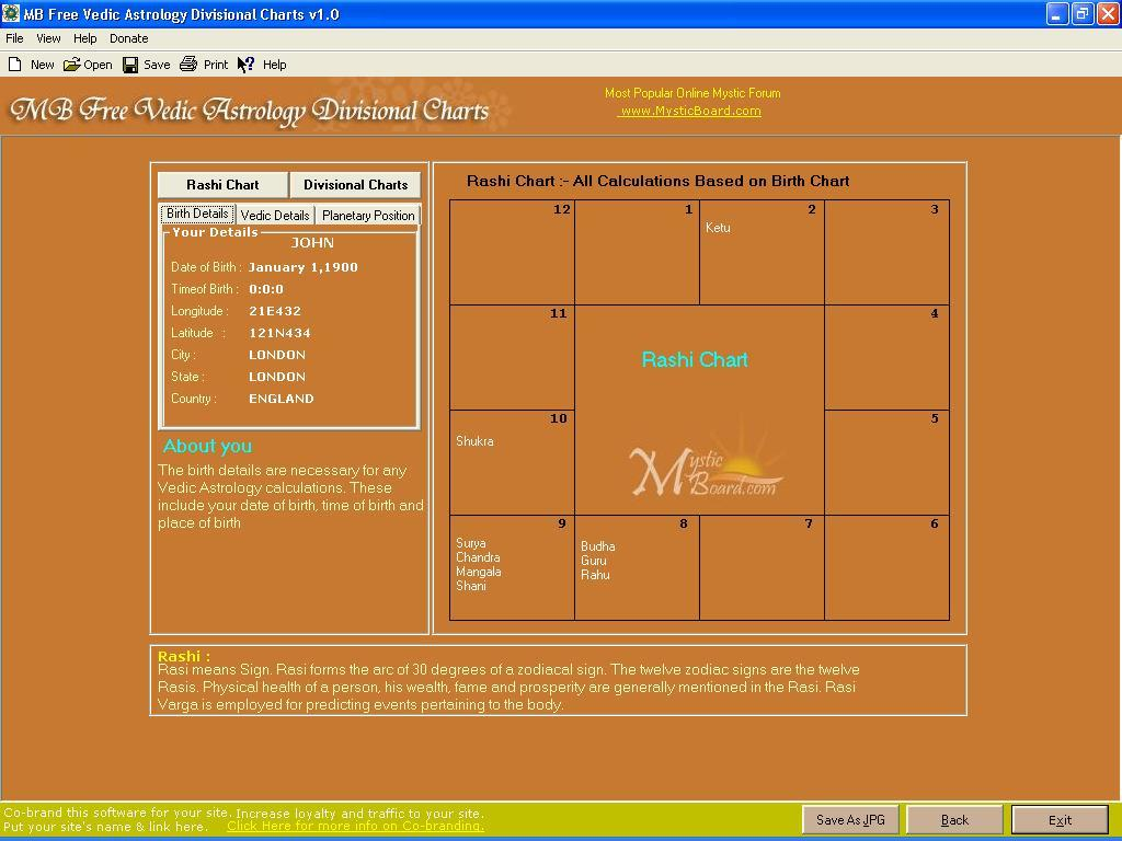 MB Free Vedic Astrology Divisional Charts latest version   Get ...