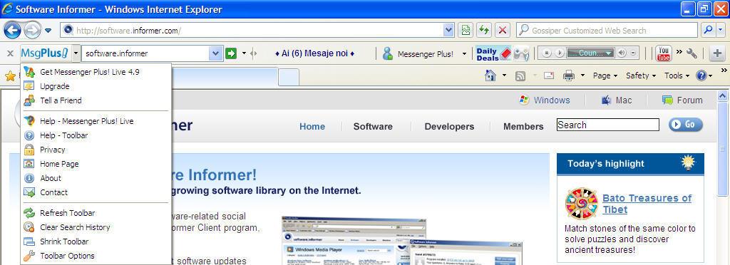 удаление порно информера в internet explorer