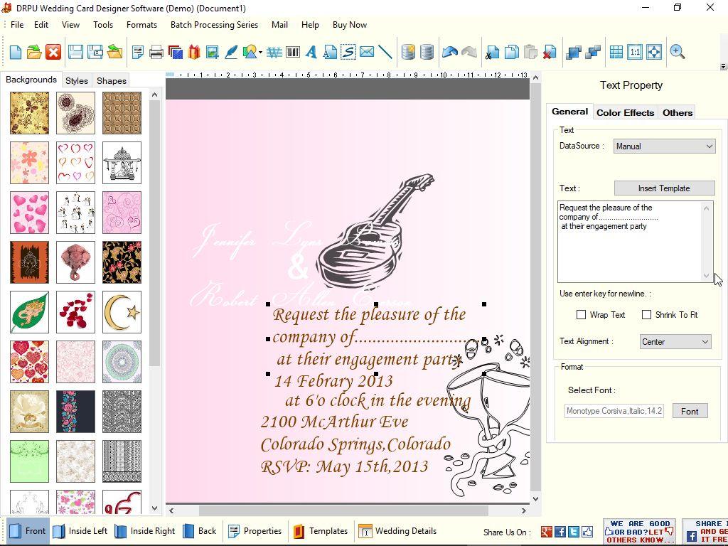 Drpu Wedding Cards Designer Software Latest Version Get Best Windows Software