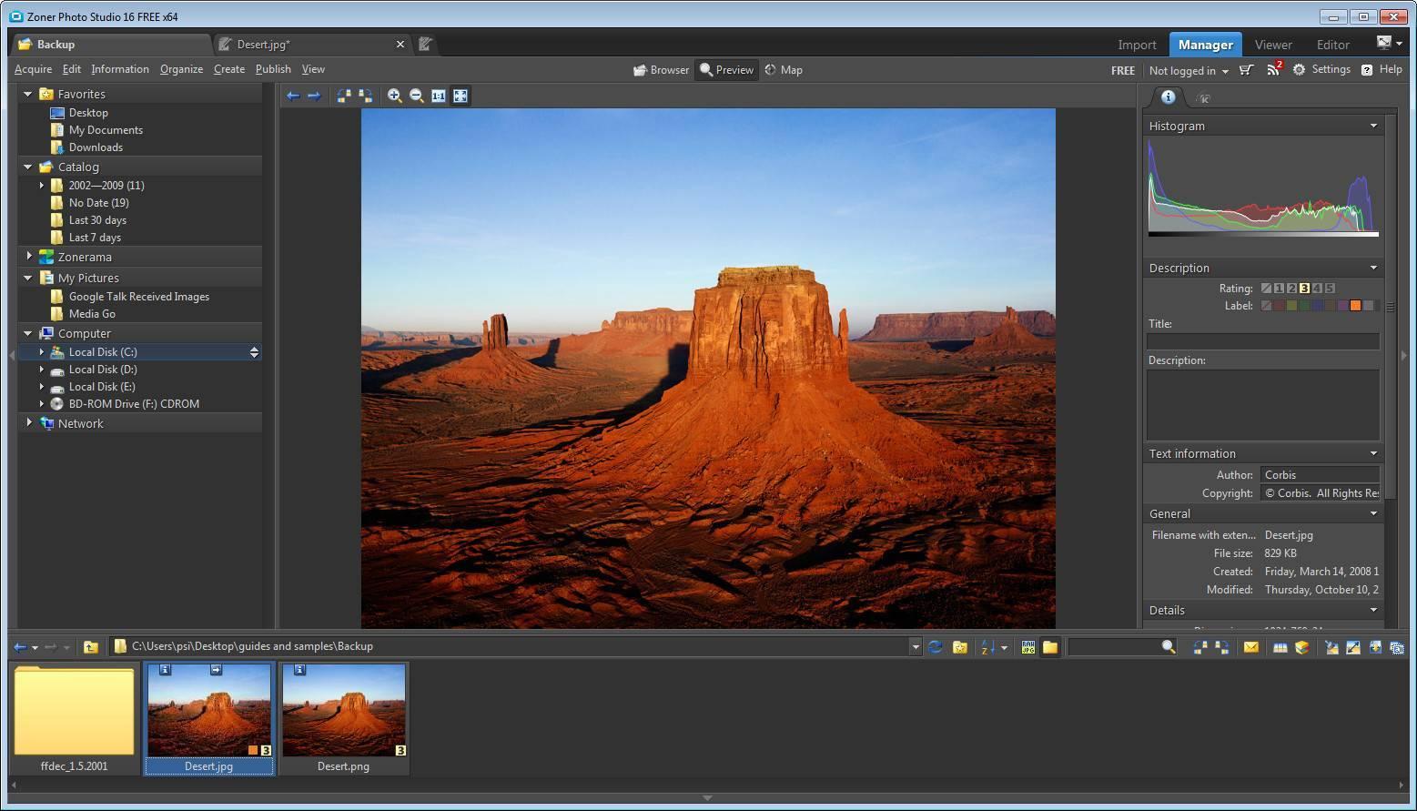 Zoner photo studio slideshow