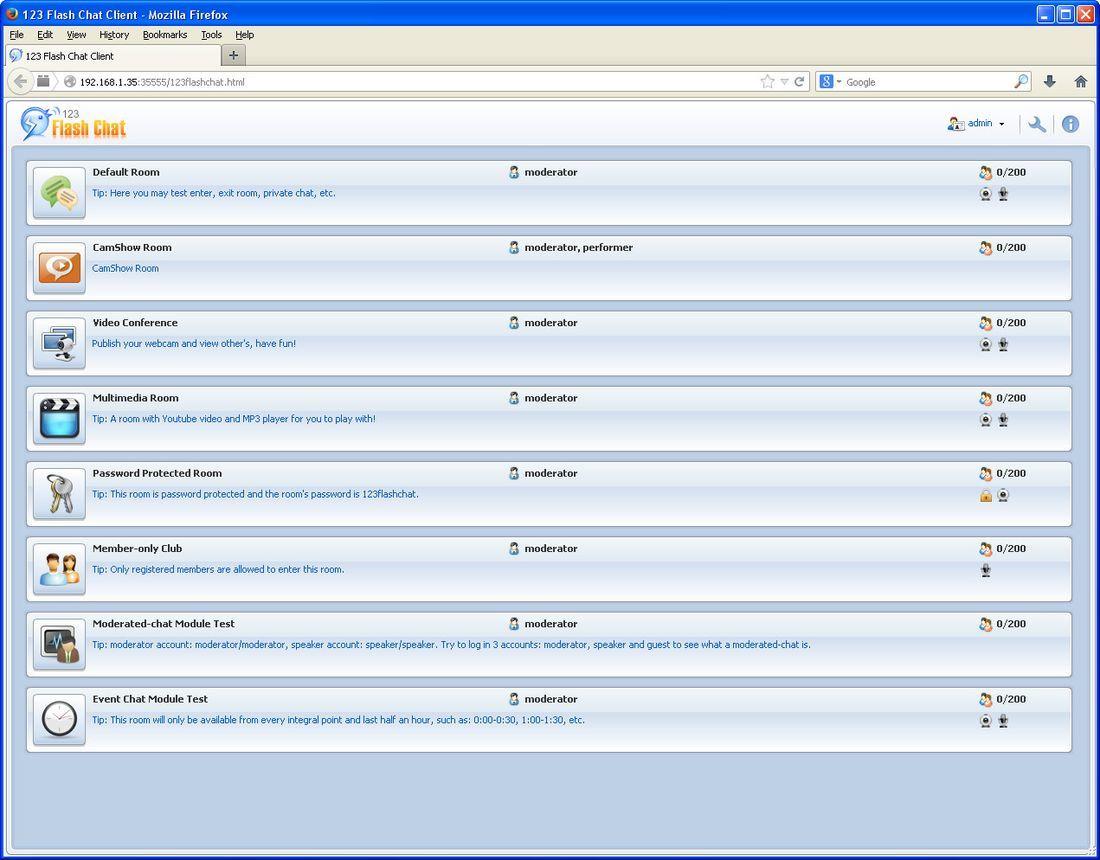123 Flash Chat Server Software latest version - Get best