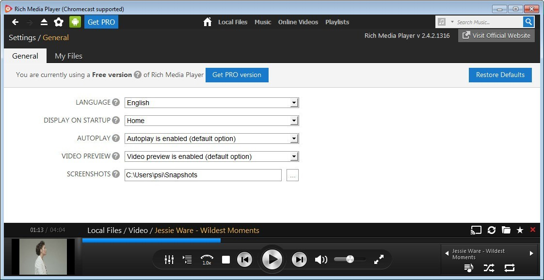 download rich media player full version free