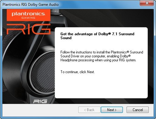 Plantronics RIG Dolby Game Audio download for free - SoftDeluxe
