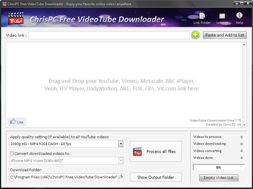 ChrisPC Free VideoTube Downloader download for free - SoftDeluxe