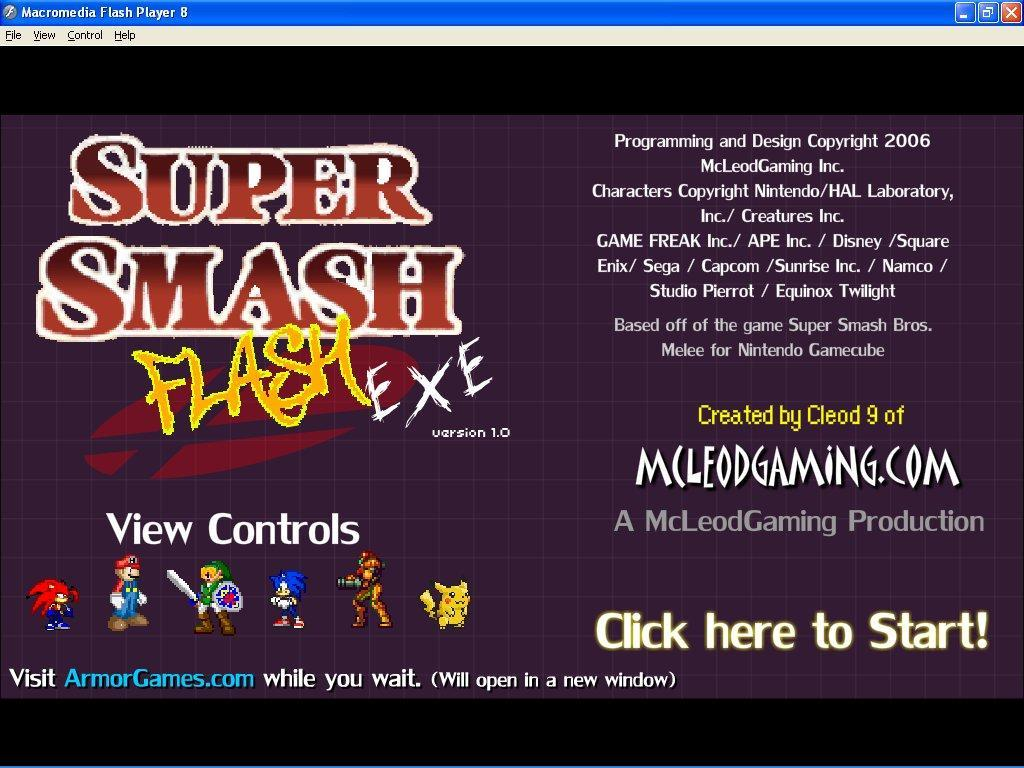 Super Smash Flash EXE download for free - SoftDeluxe