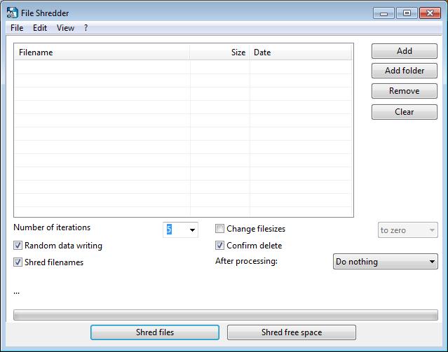 программа шредер файлов - 13