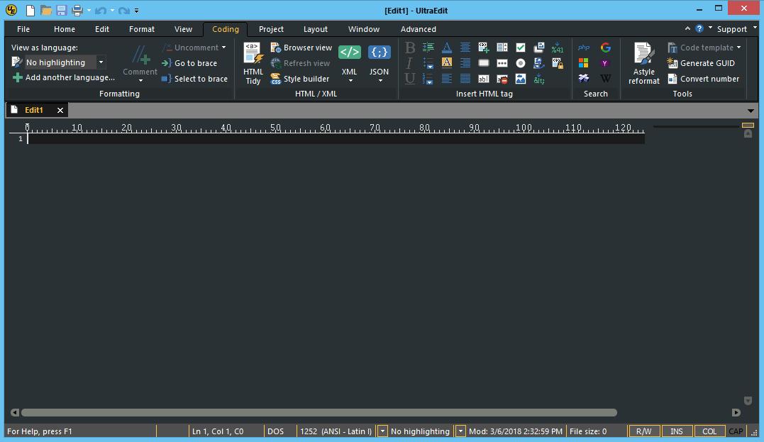 Using ultraedit to edit csv files